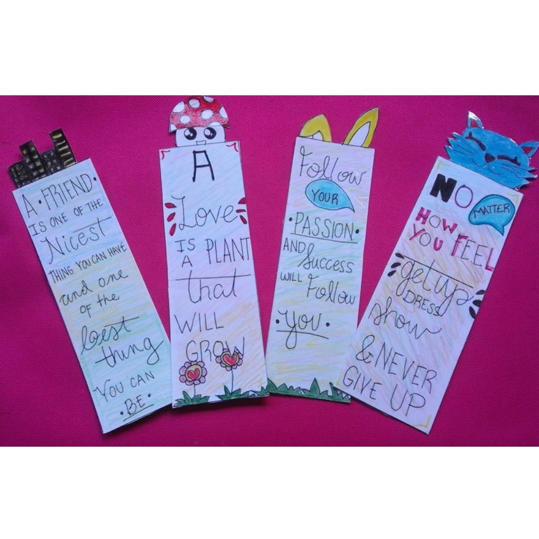 creative handmade quote bookmarks, design & craft, handmade goods