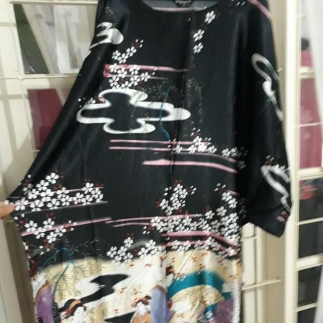 Daster bathwing, bahan silky, big size, sisa oleh2 dr Jepang