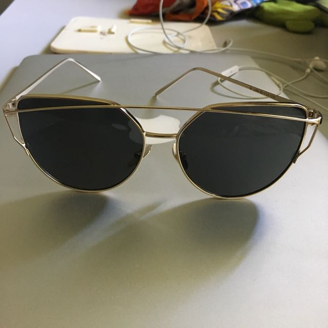 Double metal nose sunglasses