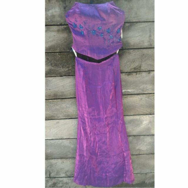 Dress Pesta Purple Manik Mewah