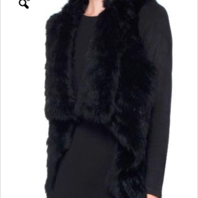 Durene rudsak rabbit fur vest