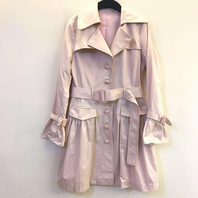 epanouir epabis (36號)淺粉紅 長版 洋裝 大衣外套