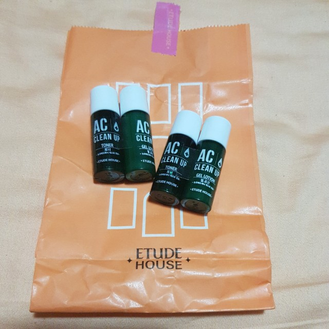 Etude House AC Clean Up Toner and Gel Lotion, Health & Beauty, Bath & Body on Carousell