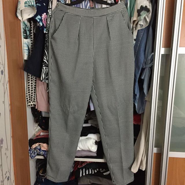F21 Checkered Pants