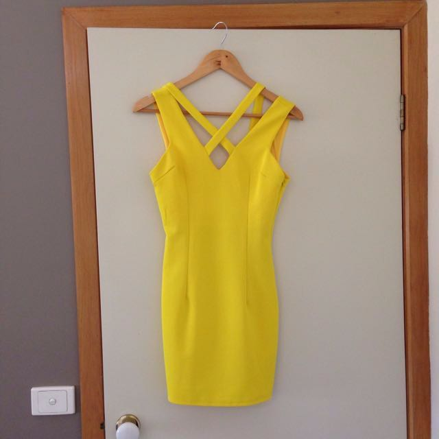 Faith in love branded yellow dress