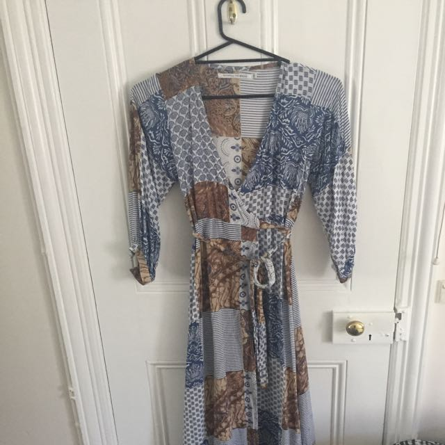 Faithful The Brand Long Patterned Dress