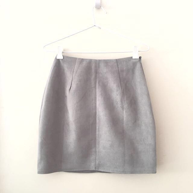 Faux Suede Skirt AU6-8