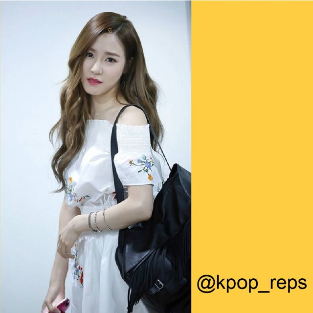 eb48f0e63ec8 Floral Off Shoulder Dress (SNSD Tiffany)