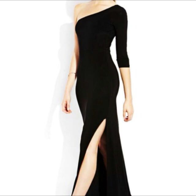 Forever 21 long gown dress with slit