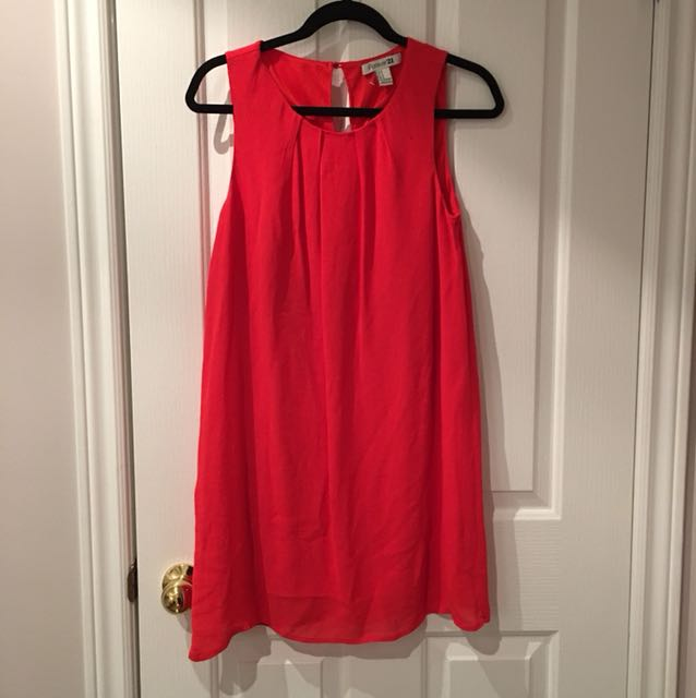 Forever 21 red flowy dress