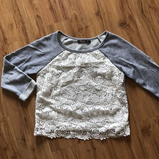 FOS Lace long sleeve top