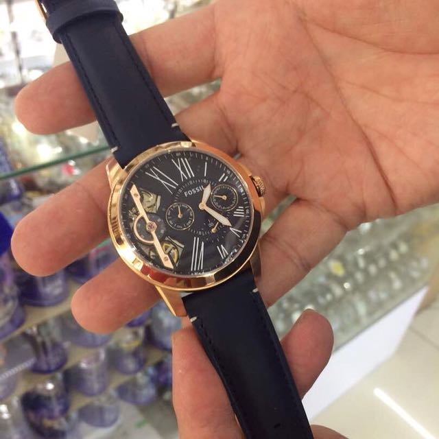 acf6c10eb FOSSIL GRANT TWIST THREE-HAND BLUE LEATHER WATCH ME1162, Men's Fashion, Watches  on Carousell