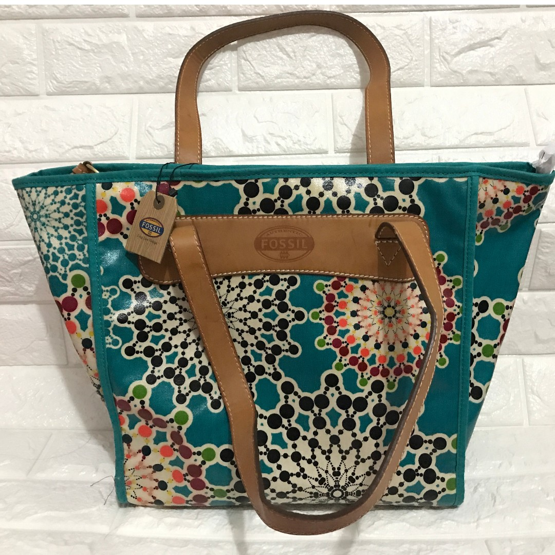 Fossil Key Per Tote Hand Bag from USA with Tags