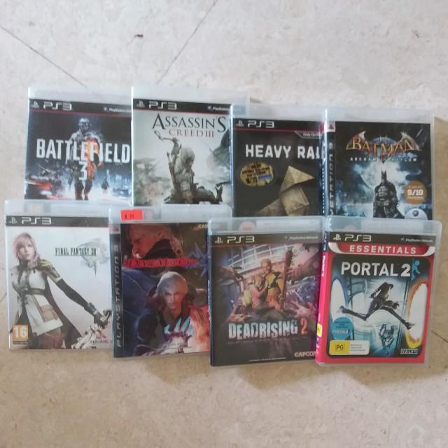 Freepos PS3 Assassin's Creed 3, Battlefield 3, Final Fantasy XIII, Batman Arkham Asylum, Heavy Rain, Dead Rising 2, Devil May Cry, Portal 2