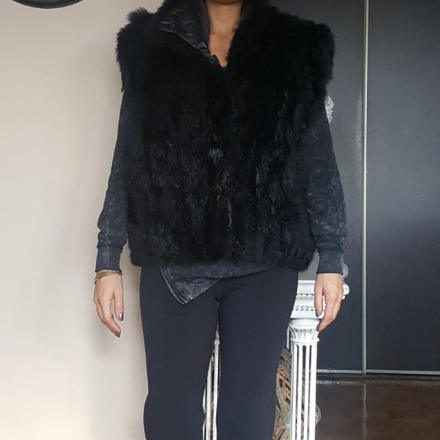 Genuine fur vest