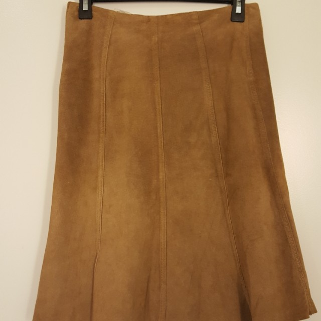 Genuine Suede Skirt