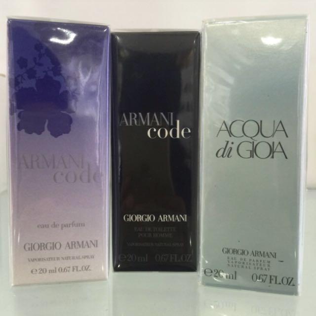 Giorgio Armani Original Perfume 20ml Health Beauty Perfumes
