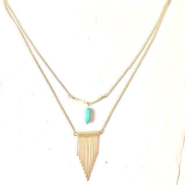 Gold necklace V
