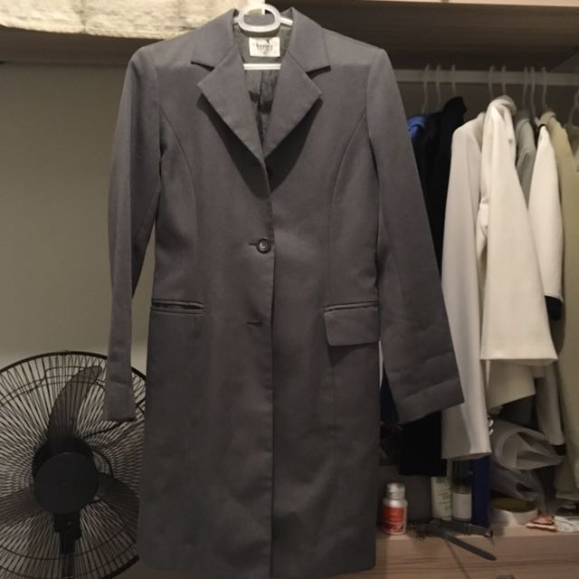 Gray Bossini Trench Coat