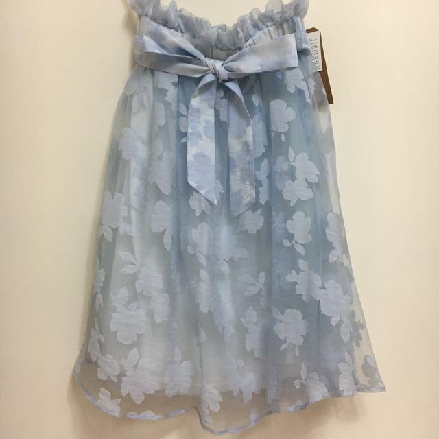 GRL 蝴蝶結綁帶花柄長裙