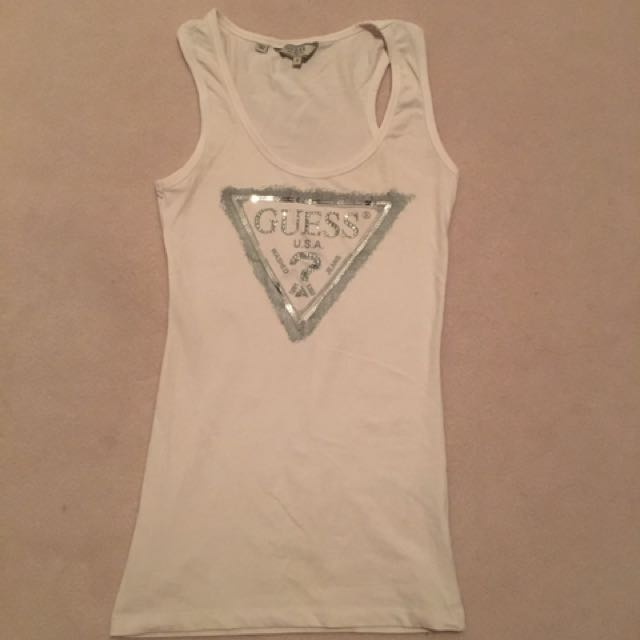 GUESS white singlet