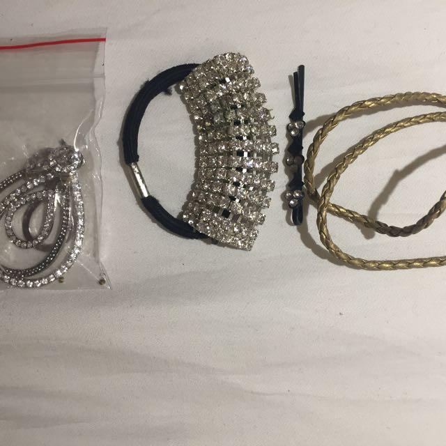 Hair band , bracelets and earrings