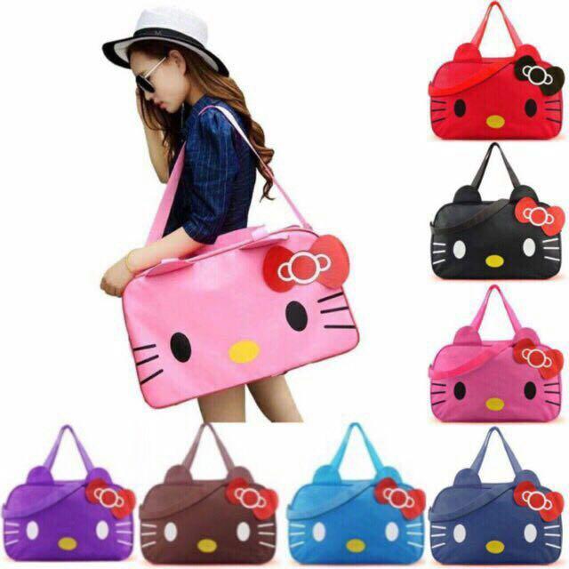 ee46754de2cc Hello Kitty Travel Bag Luggage Bag Gym Bag Tote Shoulder Bag Large  Waterproof