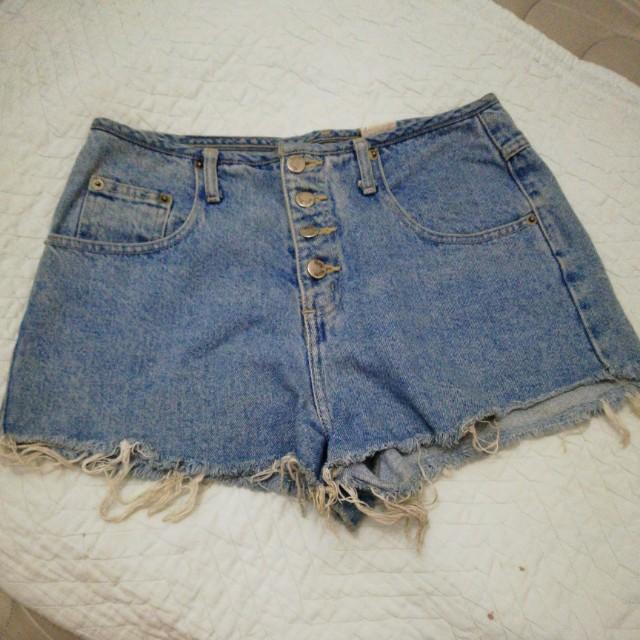 High waisted short shorts.