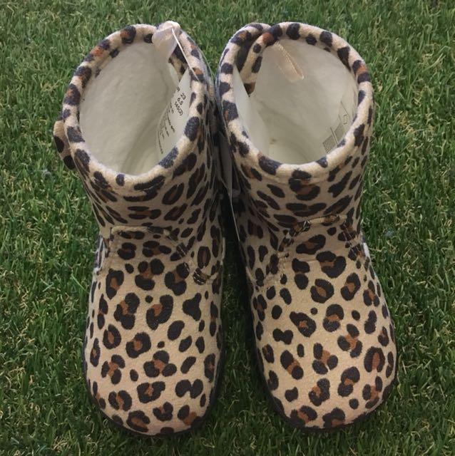 H&M 好有型豹紋短靴-免運
