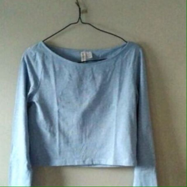 H&M crop top long slevee