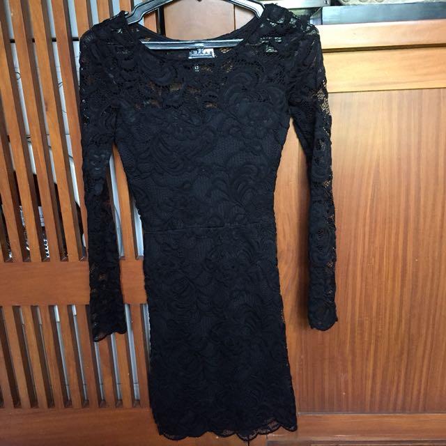 H&M Lace Bodycon Dress