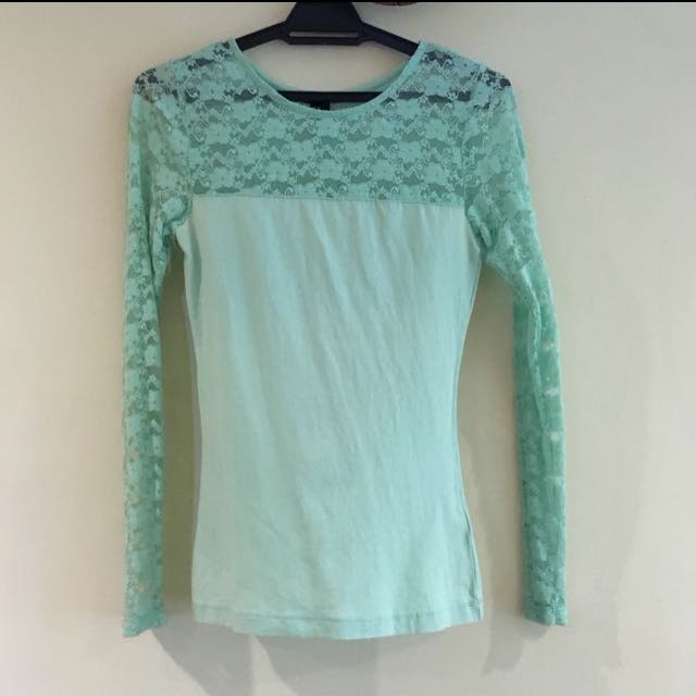 H&M Lacey Long Sleeve Top