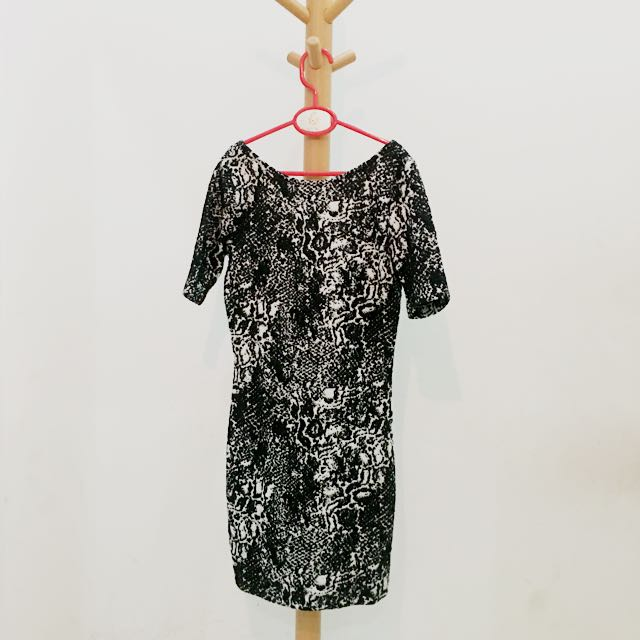 H&M SnakeSkin Print Dress size XS