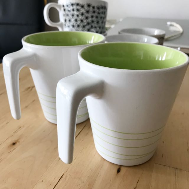 Ikea 2 coffee mug set
