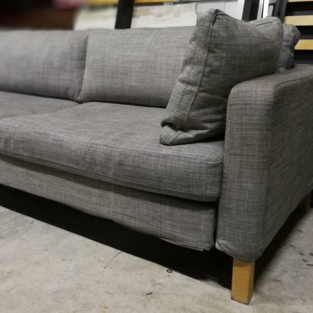 RESERVED) IKEA Karlstad 3-Seat Sofa Bed, Home & Furniture, Furniture on futon chaise, ikea ektorp sofa chaise, ikea karlstad chair,