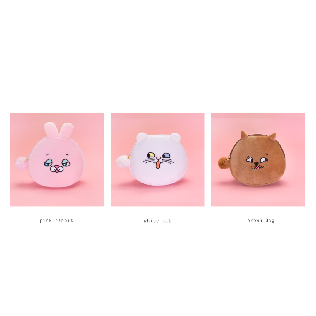 [Instock] Squint Eyes Animal Pouch By Bentoy