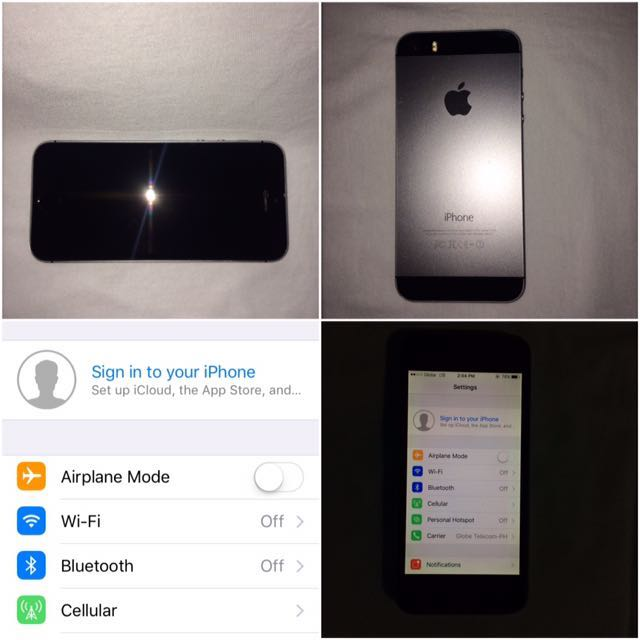 iPhone 5s 32GB Space Grey Globelocked