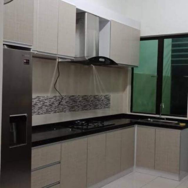 Kabinet  Dapur  Quartz Stone Pattern melamine promo Rumah
