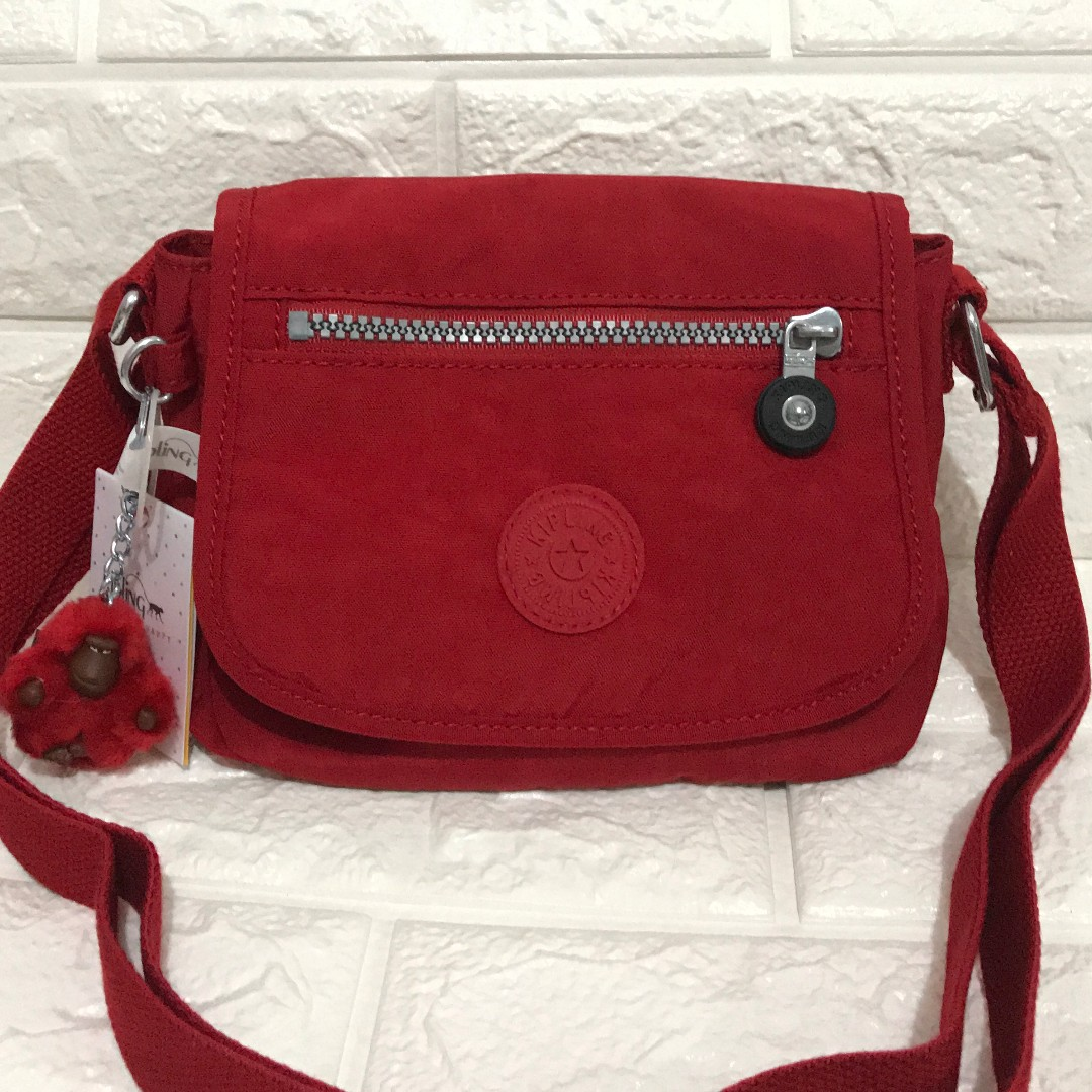 Kipling Sabian Red Crossbody Sling from USA with tags New