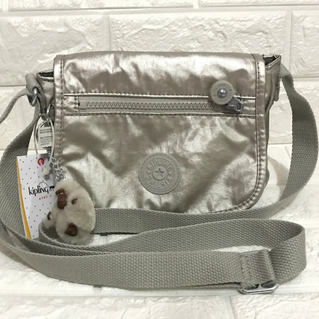 Kipling Sabian Silver Crossbody Sling from USA with tags
