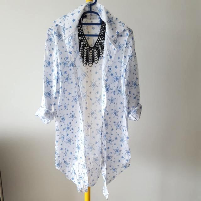 Korean Styled  Star Blouse Shirt Free Size
