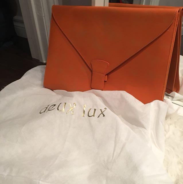 Large orange envelope bag