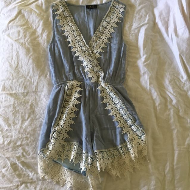 Light blue lace playsuit
