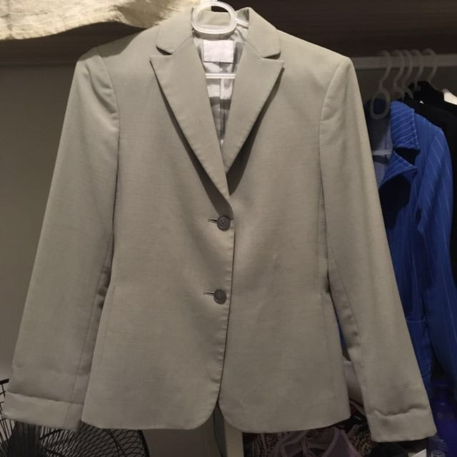 Light Gray Office Blazer