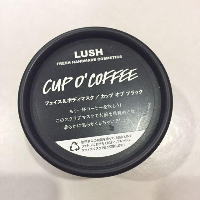 Lush cup o coffee mask