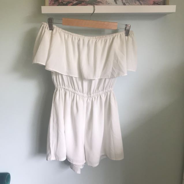 Luvalot off the shoulder playsuit