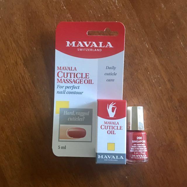 Mavala nail polish and cuticle massage oil