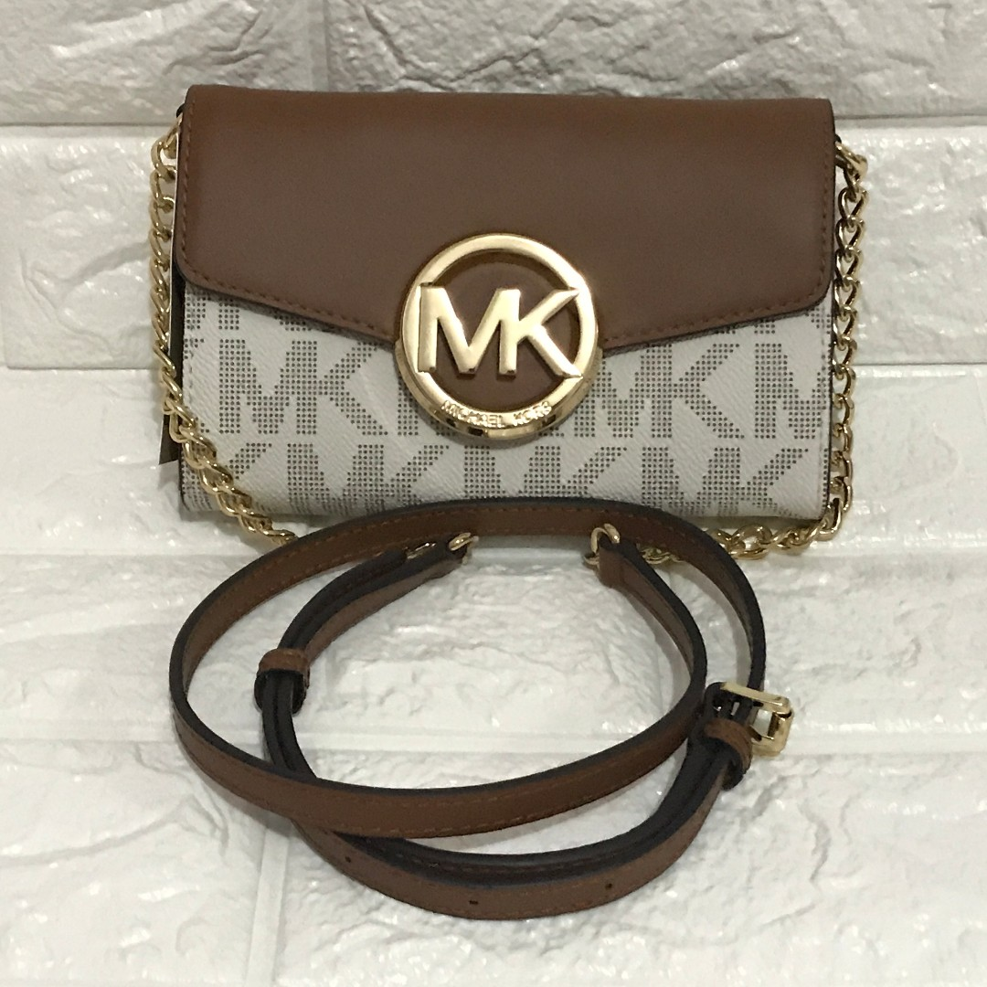 Michael Kors Hudson Leather Clutch Crossbody
