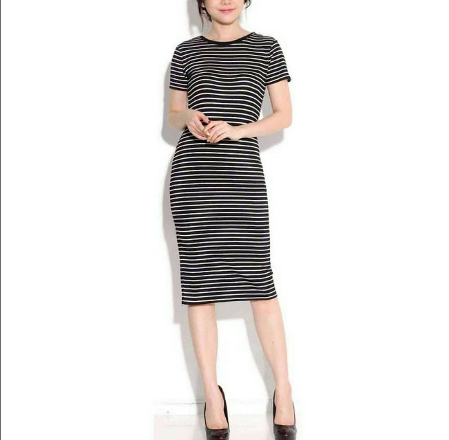 Midi stripe Black