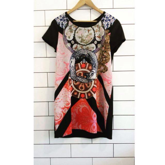 Mink Pink Lucky Koi T-Shirt Dress